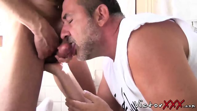 Jason Park and Victor Cody have hard fuck in the bedroom - scene 12