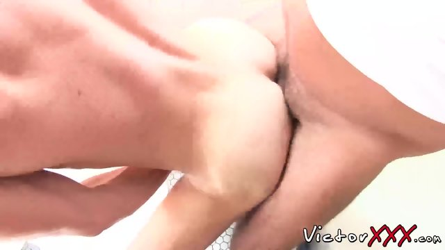 Jason Park and Victor Cody have hard fuck in the bedroom - scene 5