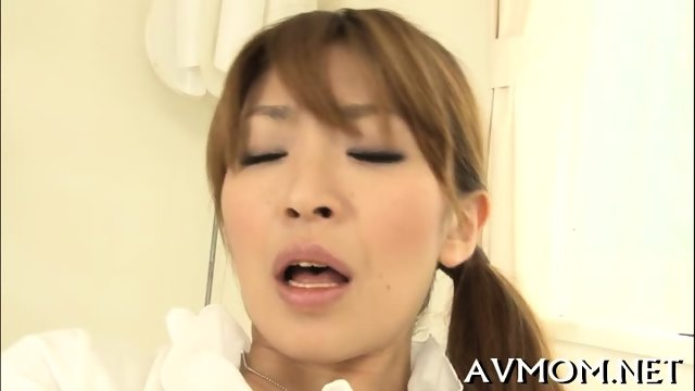 Pretty mom loves her mouth on cock - scene 3