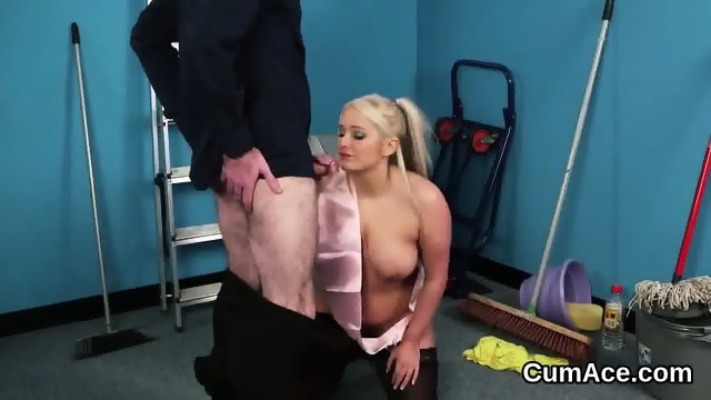 Slutty honey gets cumshot on her face swallowing all the juice - scene 2