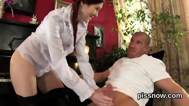 Staggered sex kitten in lingerie is geeting urinated on and nailed - scene 3