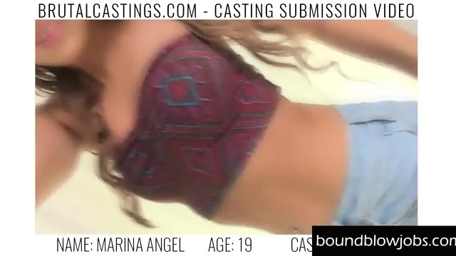 Model Marina Angel Deep throat fuck - scene 2