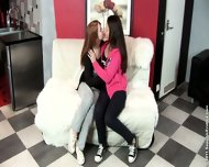 Crazy Lesbians Sisa And Dulce Plays With Each Other - scene 1