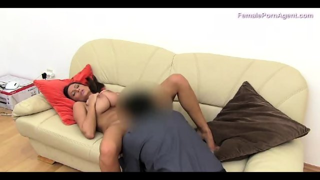Hot Brunette Shows Her Body To An Agent - scene 8