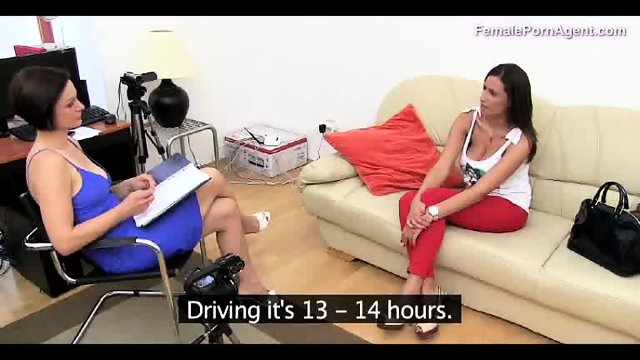 Hot Brunette Shows Her Body To An Agent - scene 2