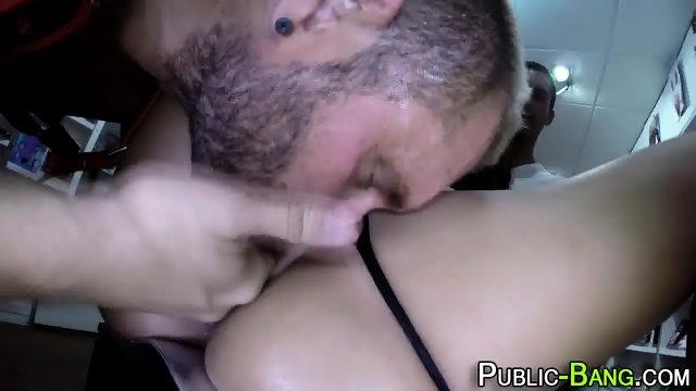 Latina fucks in public - scene 12