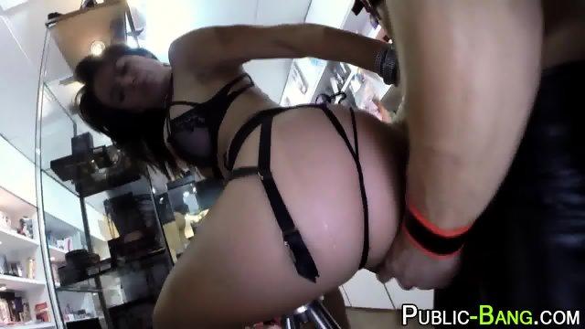 Latina fucks in public - scene 1