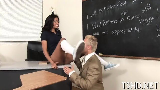 Schoolgirl behaving badly - scene 6