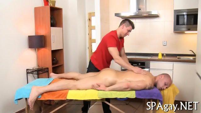 Steamy hot gay massage - scene 1