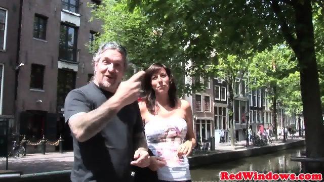 Real dutch hooker sucks and fucks in lingerie - scene 1