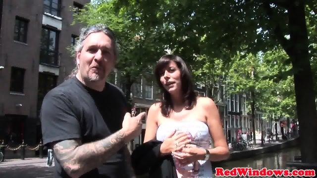 Real dutch hooker sucks and fucks in lingerie - scene 2