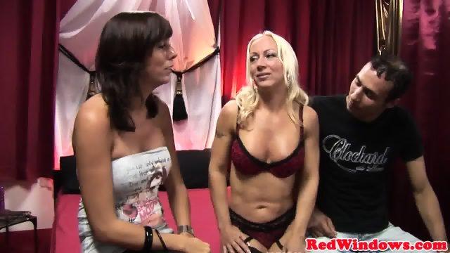 Real dutch hooker sucks and fucks in lingerie - scene 5