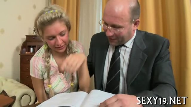 Cumshot lesson from old teacher - scene 3