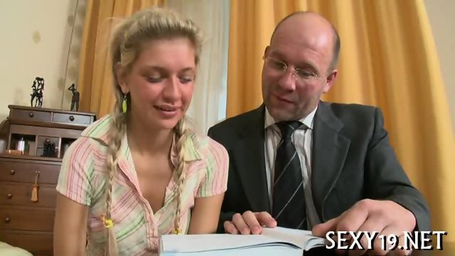 Cumshot lesson from old teacher - scene 5