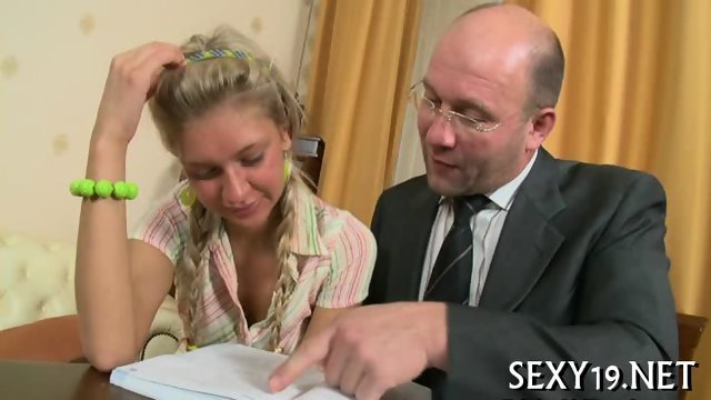 Cumshot lesson from old teacher - scene 6