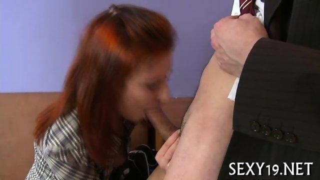 Old tutor gets cock loving action - scene 3