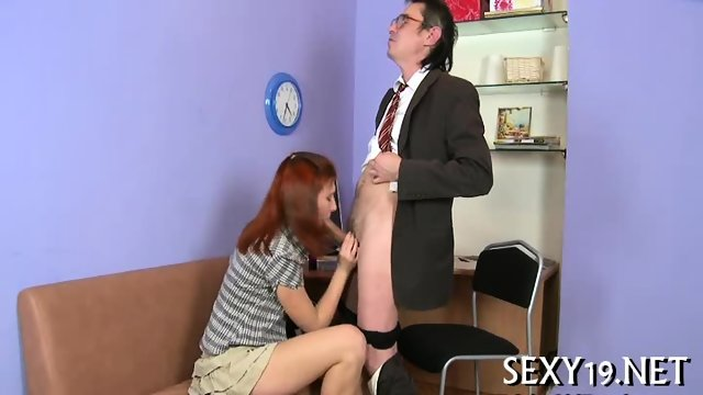 Old tutor gets cock loving action - scene 4