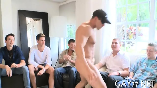 His ass fucked by stripper - scene 2
