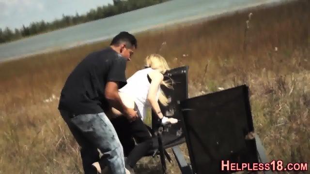 Lost teen banged in field
