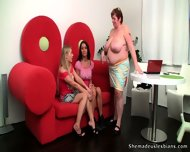 Alina & Florence Learning From Their Fat Teacher - scene 6