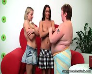Alina & Florence Learning From Their Fat Teacher - scene 7