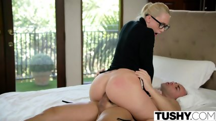 TUSHY Curvy AJ Applegate Punished By Her Boss - scene 9