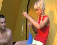Sex Camp With Really Hot Young Babe - scene 2