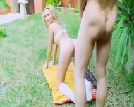 Garden Fucking With Horny Nadin