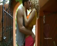 Garden Fucking With Horny Nadin - scene 2
