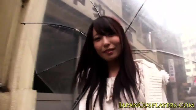 Asian babe Chika Arimura sucks as Evangelion