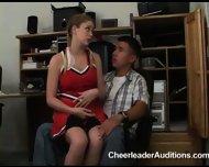 Cheerleader Aspirant prostituting herself for Membership - scene 3