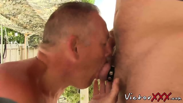 Outdoor sex two daddys guys Clark Kent and Jake Edwards
