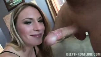 Naughty blonde girl taking a hot deep throat - scene 5