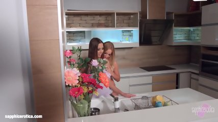 My Kitchen Love By Sapphic Erotica - Kiara Lord And Suzie C Lesbians - scene 1