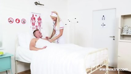 Slutty Nurse Karol Lilien Treats A Patient To Her Warm Pussy - scene 1
