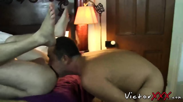 Daddies enjoying in blowjob and bareback hardcore sex