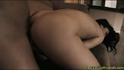 Big ass brunette getting fuck in couch so hard - scene 3