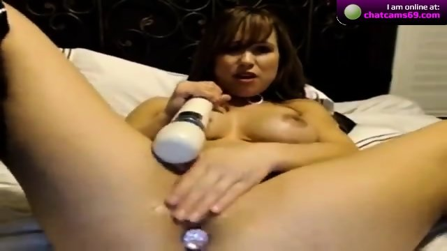 CareForALick playing with a vibrator on cam - scene 5