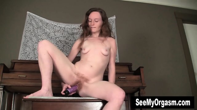 Hot Ana Riding Dildo At Piano