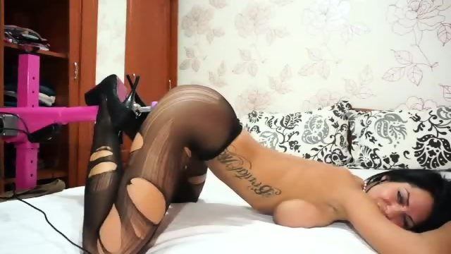 Percect Camgirl in Stockings & Heels - more videos on amateurcams666.com - scene 3