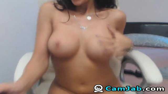 Horny Long Hair Big Tits Masturbating On Cam