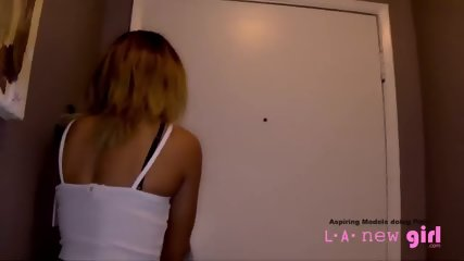 TEEN MODEL IS FUCKED BY AGENT AT CASTING AUDITION SHOOT - scene 1
