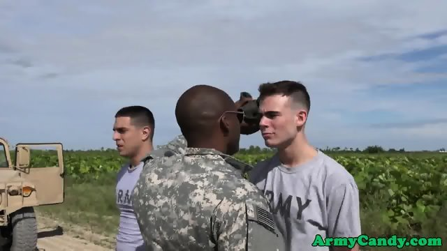 Gay Soldier Assfucked Outdoors