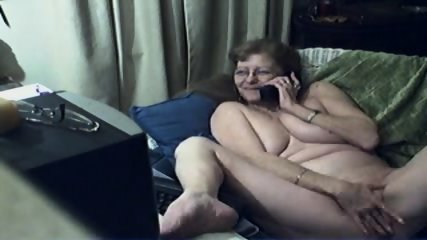 Innocent Grandma On Webcam - scene 8