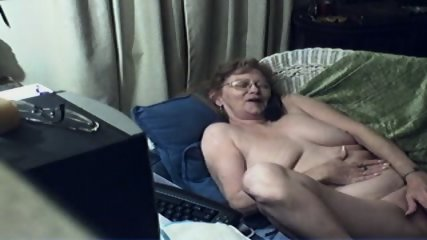 Innocent Grandma On Webcam - scene 12