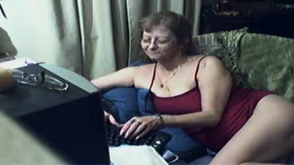 Innocent Grandma On Webcam - scene 1