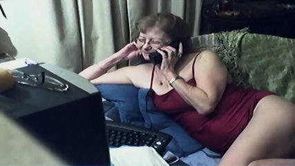 Innocent Grandma On Webcam - scene 2