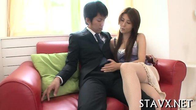 Explicit Asian fellatio