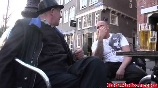 Real dutch hooker doggystyled in stockings