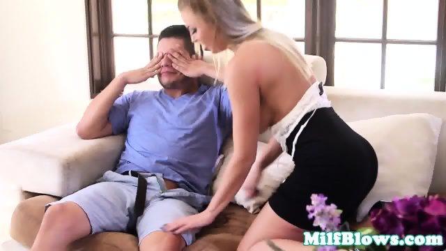 Bigtitted stepmom deepthroating stepsons cock